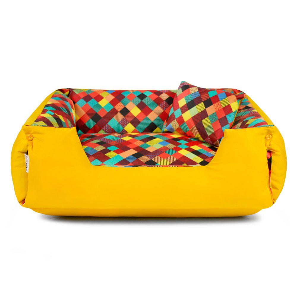 Enxoval Cama de Cachorro Impermeável Lola - GG - Colors Amarelo