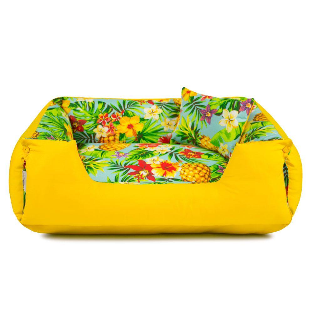 Enxoval Cama de Cachorro Impermeável Lola - GG - Tropical