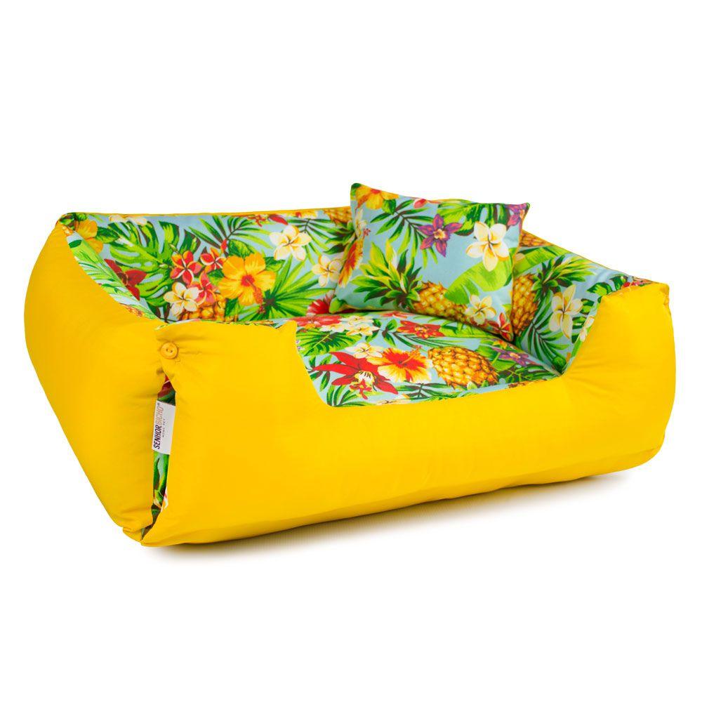 Enxoval Cama de Cachorro Impermeável Lola - M - Tropical