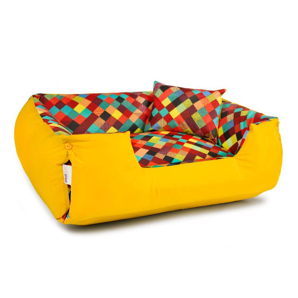 Enxoval Cama de Cachorro Impermeável Lola - P - Amarelo