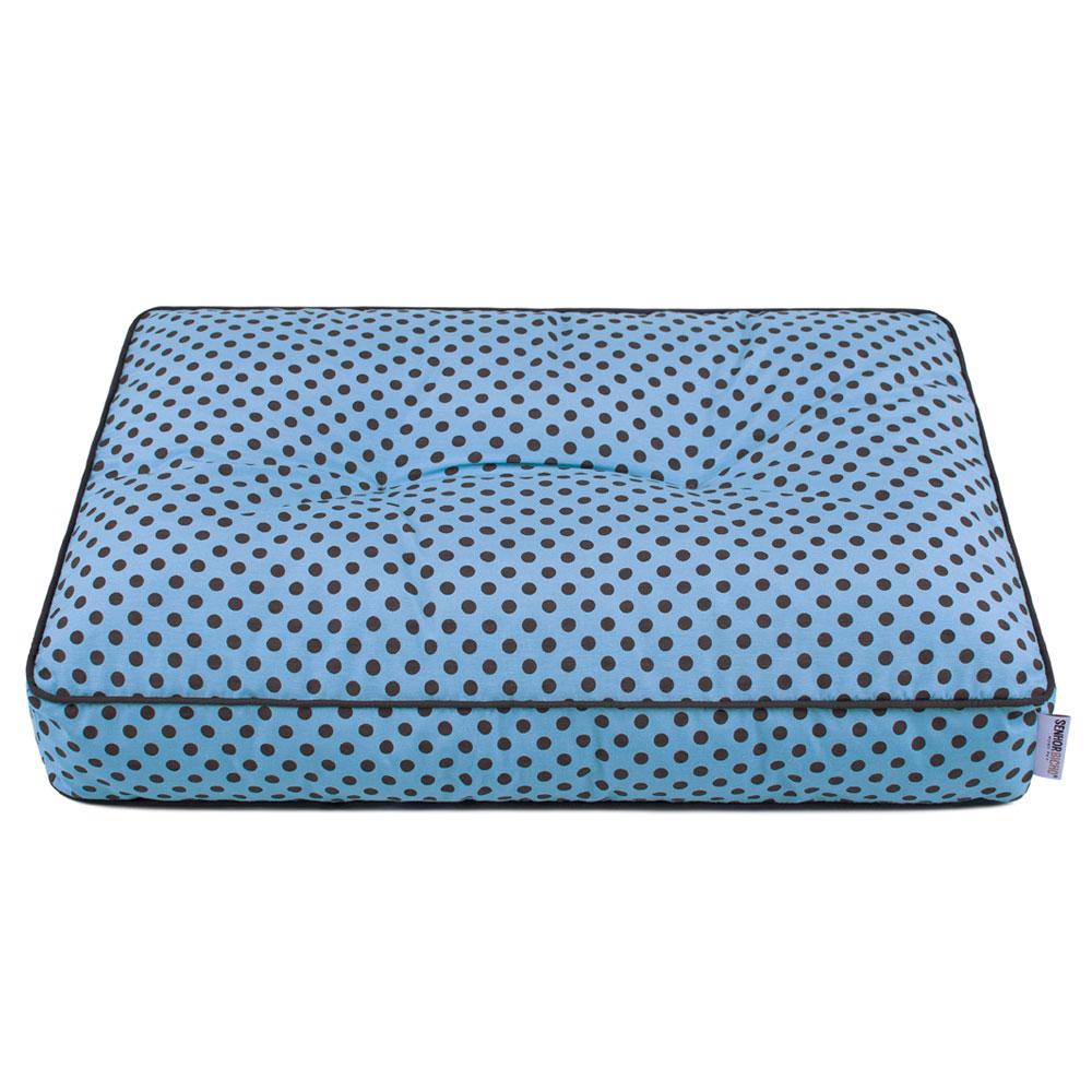 Futon Cama de Cachorro Basic Senhor Bicho 60x40 - Azul Poá Marrom