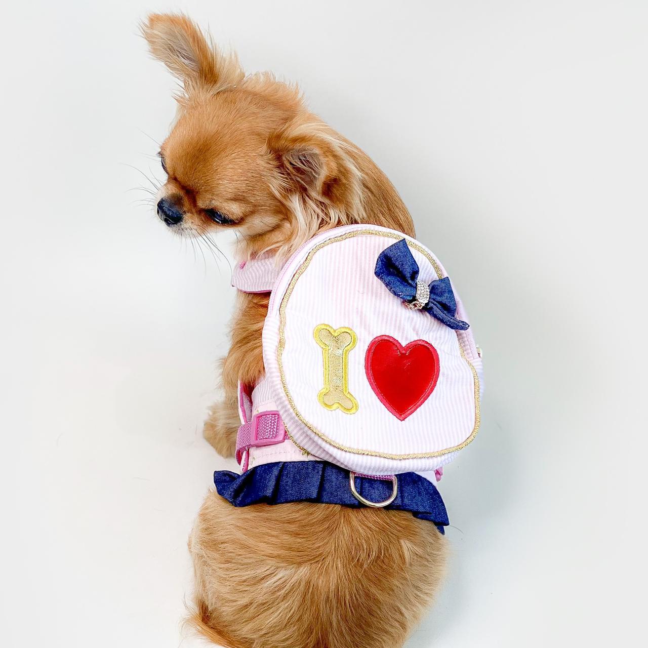 Guia Para Cachorro com Mochila Blogueira