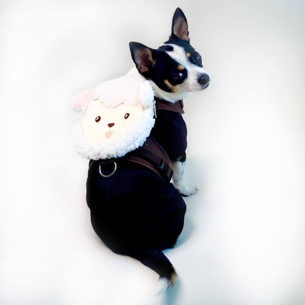 Guia Para Cachorro com Mochila Ovelha