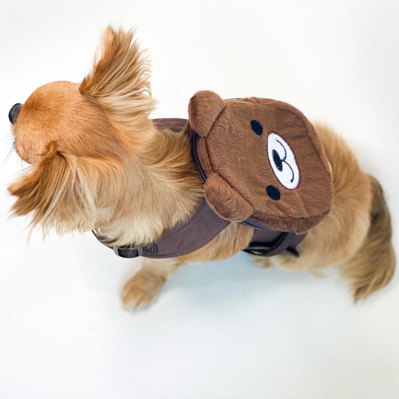 Guia Para Cachorro com Mochila Urso