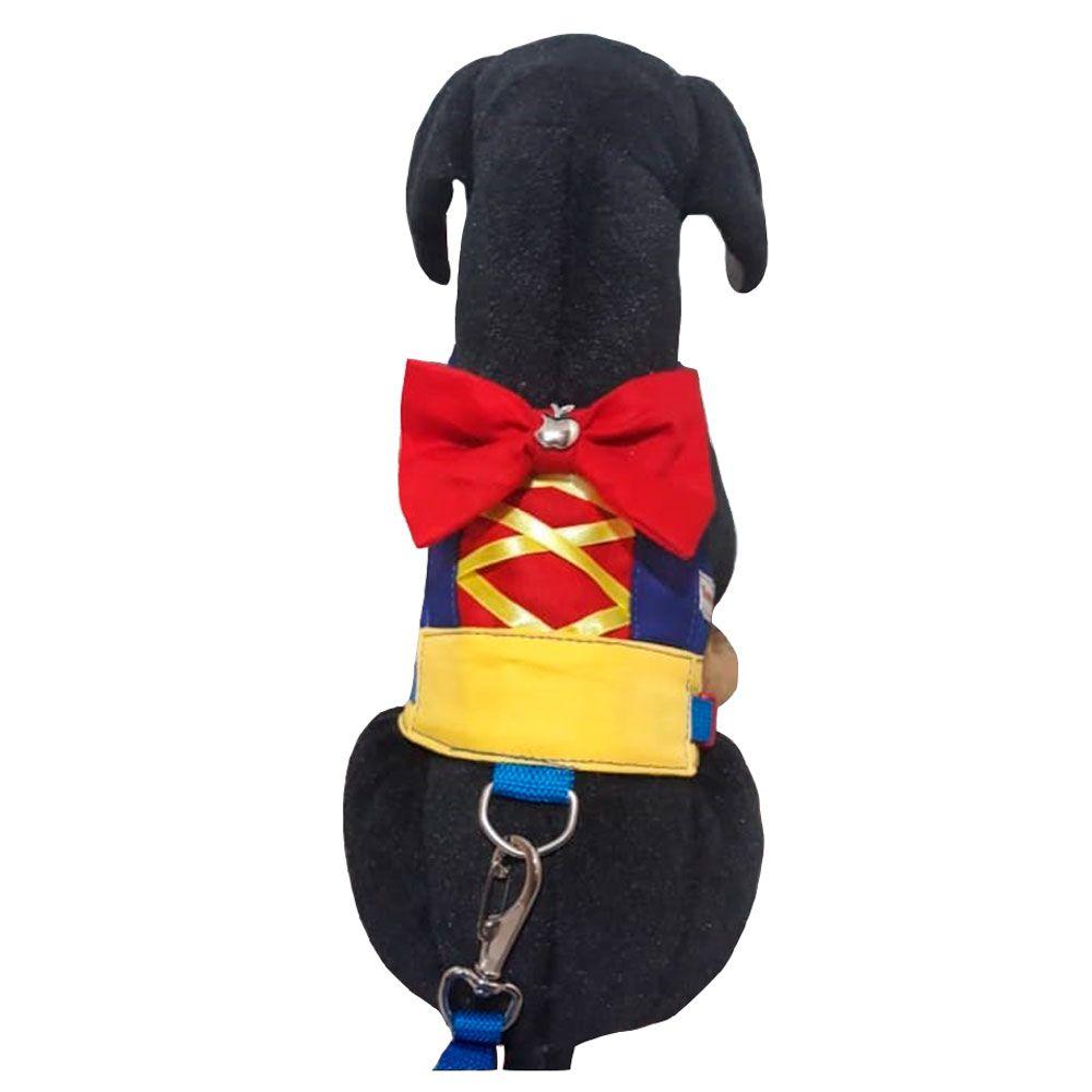 Guia Peitoral Para Cachorro - Laço Vermelho