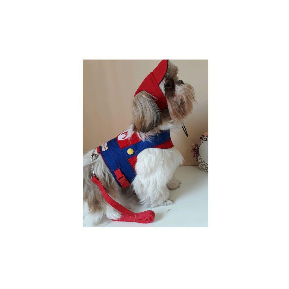 Guia Peitoral Para Cachorro - Vermelha ACOMPANHA BONÉ