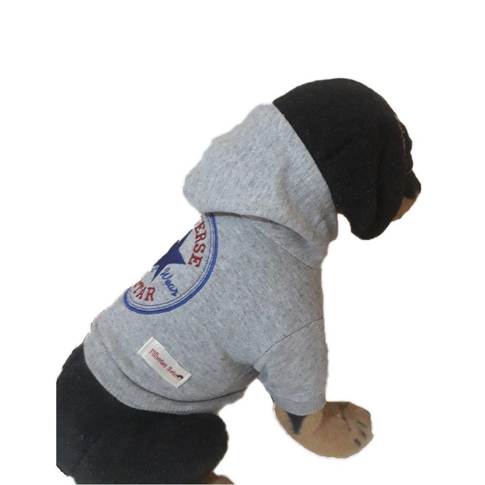 Moletom Roupinha para Cachorro - Austar Cinza