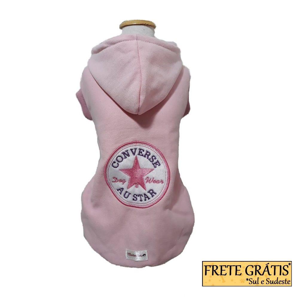 Moletom Roupinha Pet Austar Rosa para Cachorro e Gato - FRETE GRÁTIS*