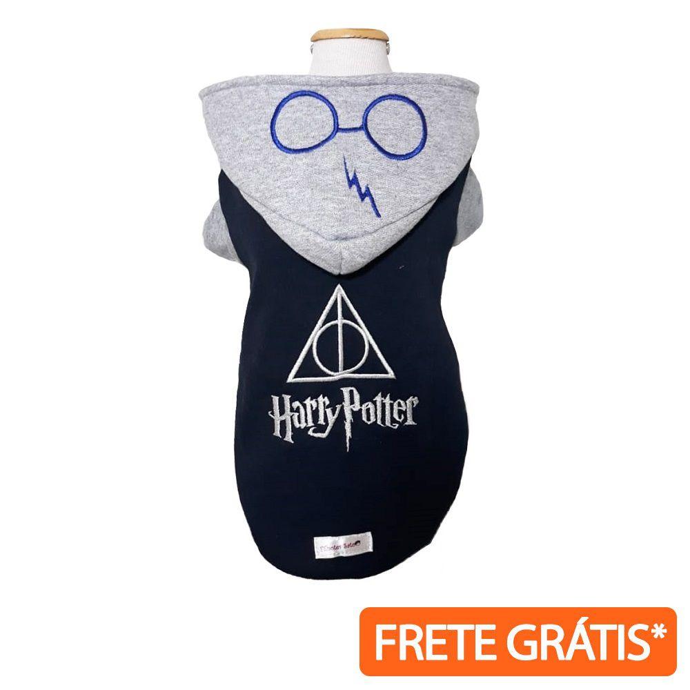 Moletom Roupinha Pet Harry Potter Cinza para Cachorro e Gato - FRETE GRÁTIS*
