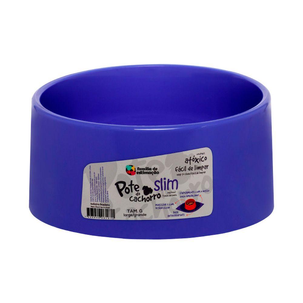 Comedouro Slim para Cachorro Azul