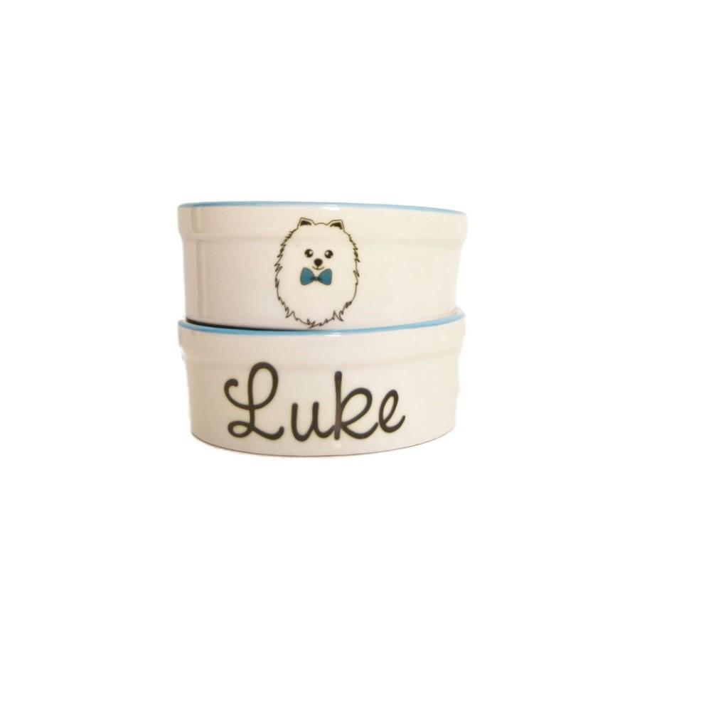 Pote para Cachorro e Gato - Comedouro e Bebedouro de Porcelana Personalizado Spitz