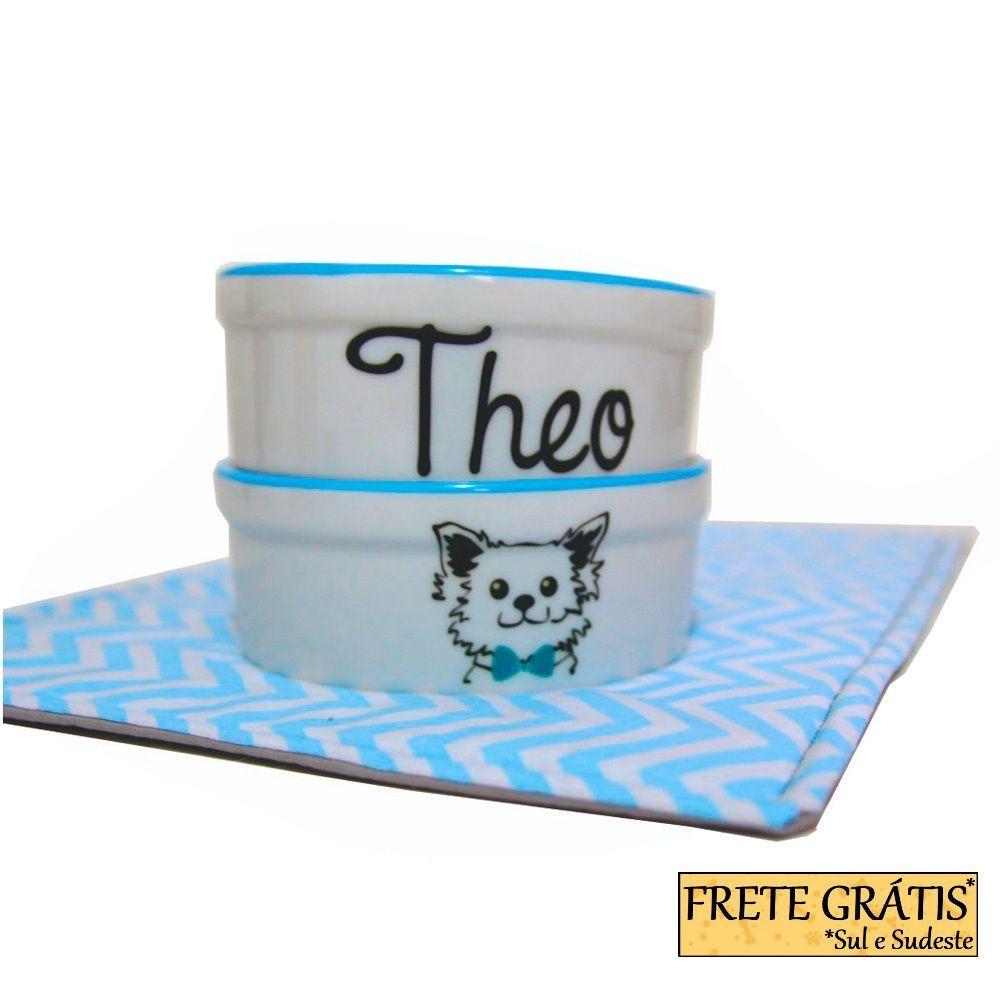 Comedouro Porcelana para Cachorro e Gato Personalizado Cachorrinho FRETE GRÁTIS*