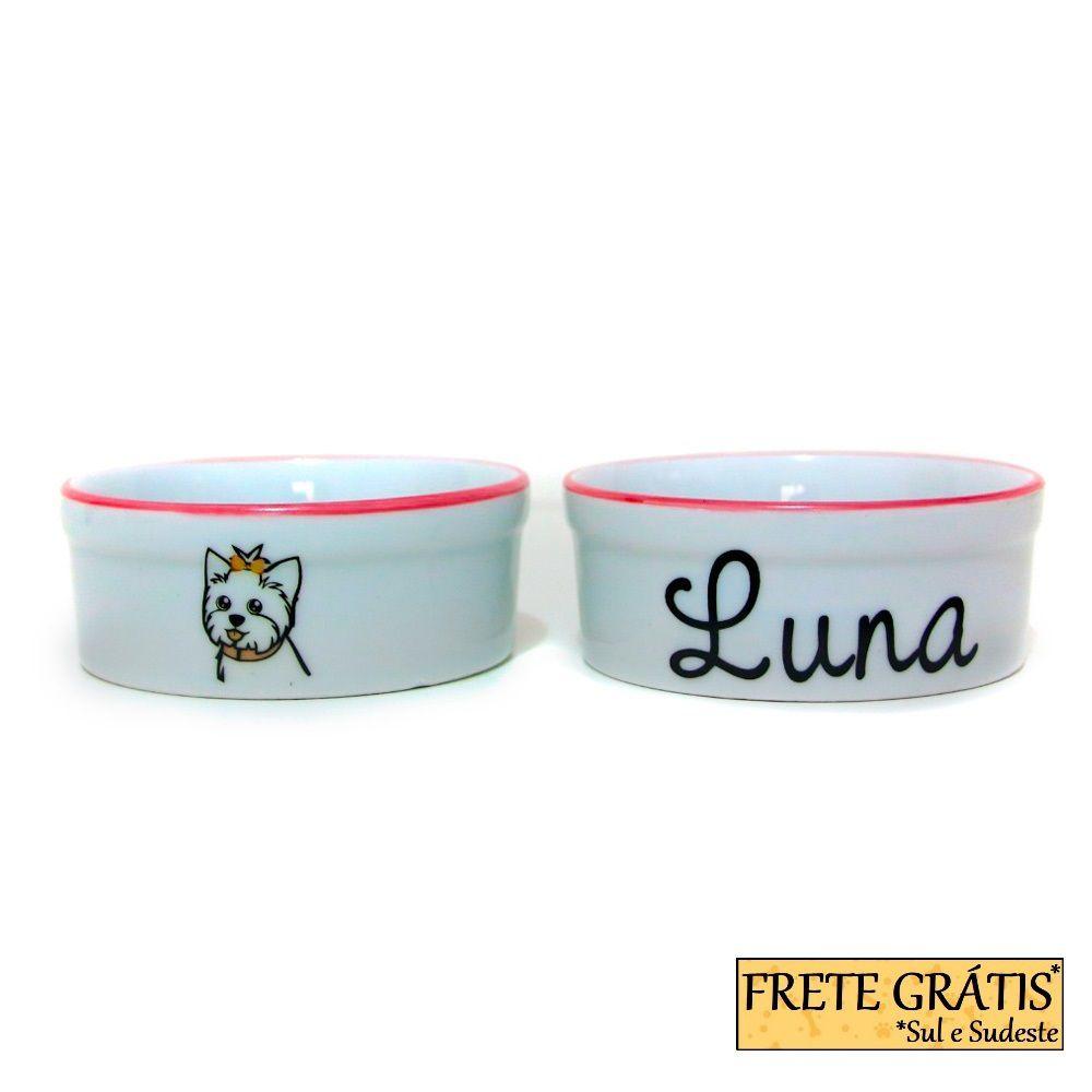 Comedouro Porcelana para Cachorro e Gato Personalizado Dog FRETE GRÁTIS*