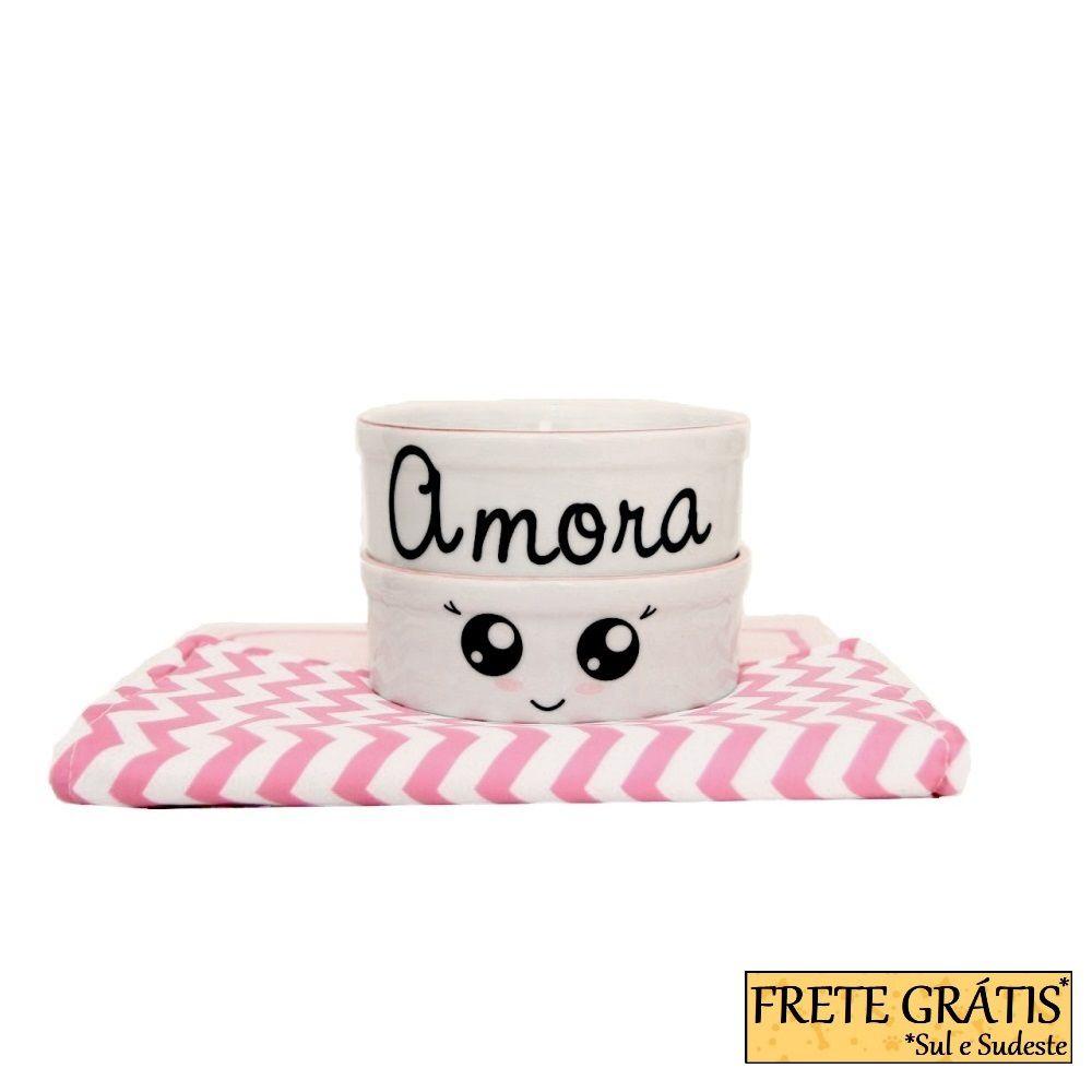 Comedouro Porcelana para Cachorro e Gato Personalizado Olhinhos FRETE GRÁTIS*