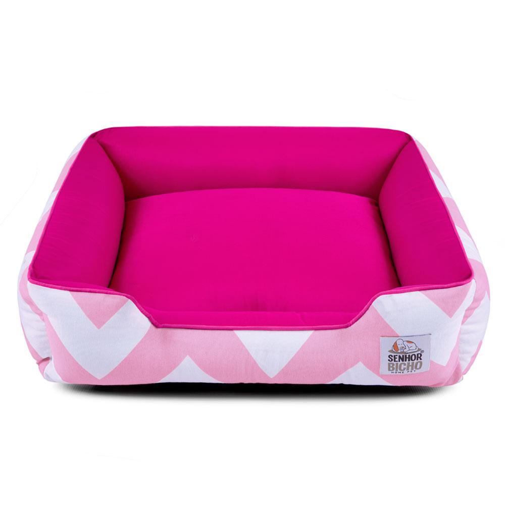 PRONTA ENTREGA - Cama de Cachorro com Zíper Pandora - M - Chevron Rosa Pink