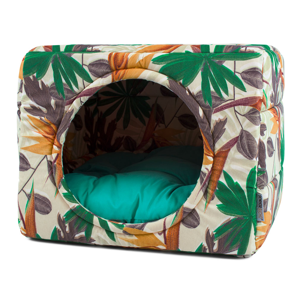 PRONTA ENTREGA! Cama de Cachorro Gato Toca Iglu Premium - G - Nature