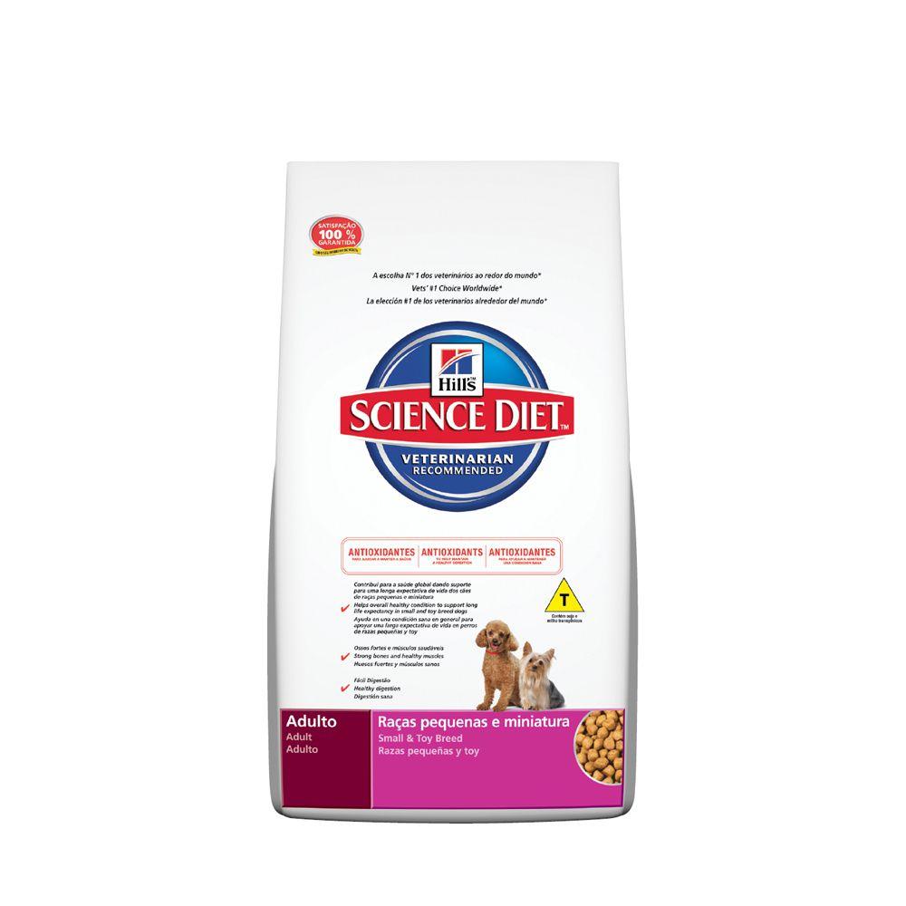 Ração Hills Science Diet Raças Pequenas e Miniatura Para Cães Adultos De 1 A 6 Anos - 3Kg
