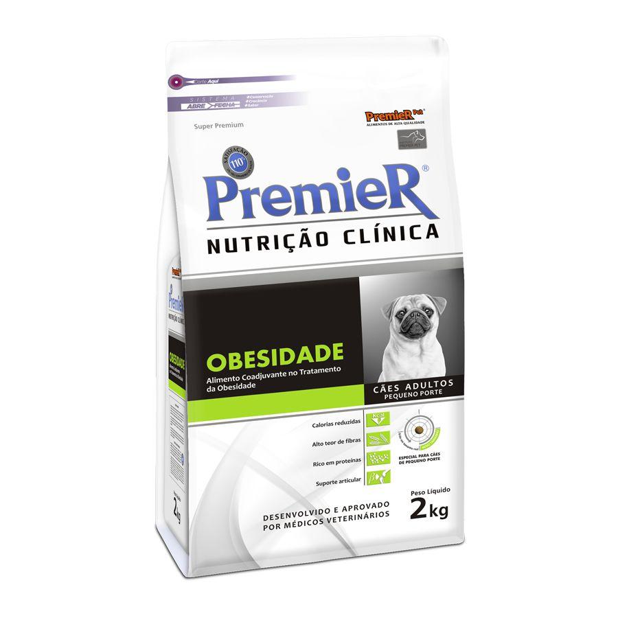 Ração Premier Nutrição Clínica Obesidade para Cães Adultos Raças Pequenas - 2Kg
