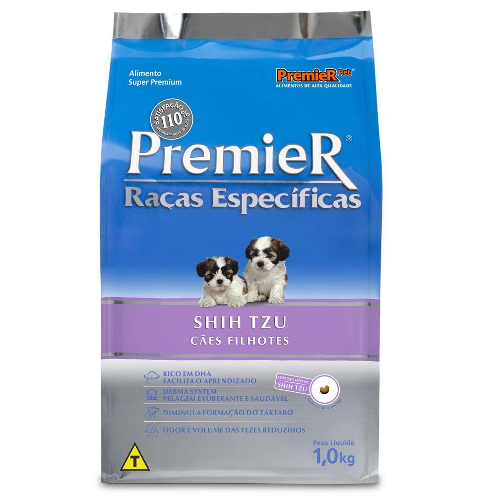 Ração Premier Raças Específicas Shih Tzu para Cães Filhotes Sabor Frango - 1Kg