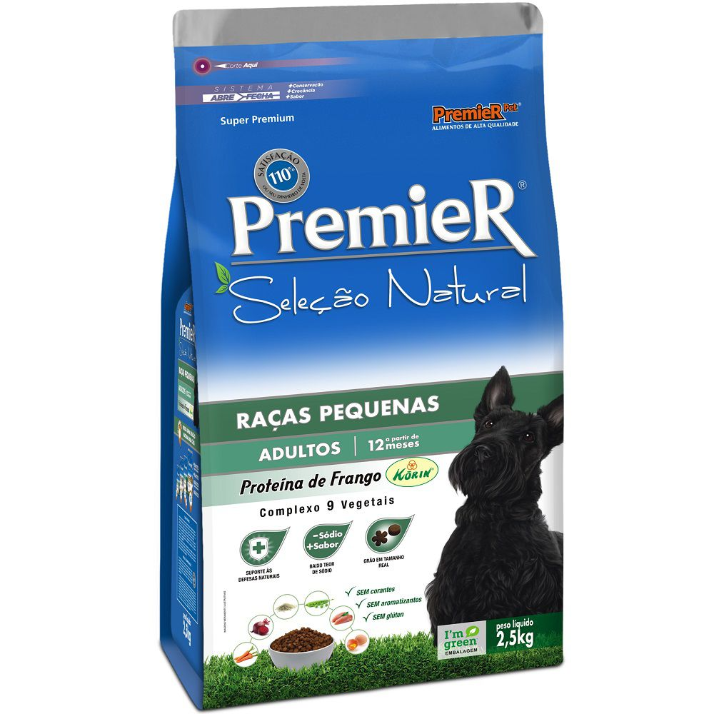 Ração Premier Seleção Natural Raças Pequenas para Cães Adultos