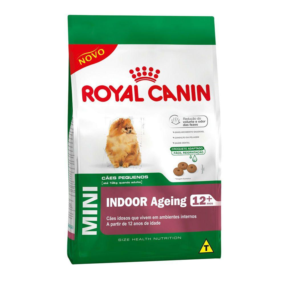 Ração Royal Canin Mini Indoor 12+ Cães Adultos (1Kg)