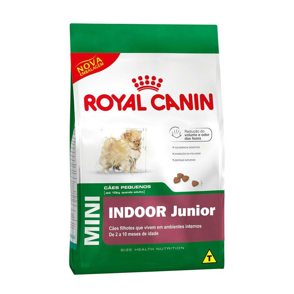 Ração Royal Canin Mini Indoor - Cães Filhotes (1Kg)