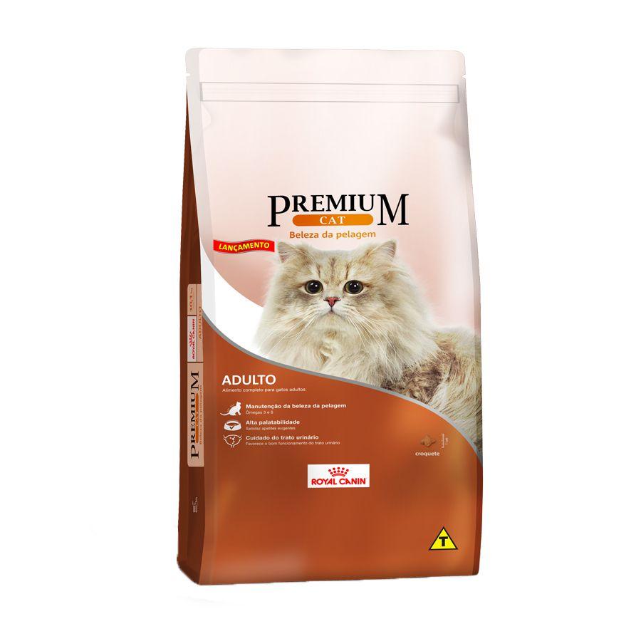 Ração Royal Canin Premium Cat Beleza da Pelagem para Gatos Adultos (1Kg)