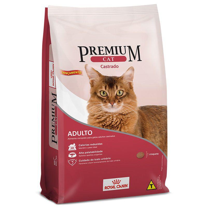 Ração Royal Canin Premium Cat para Gatos Adultos Castrados (1Kg)