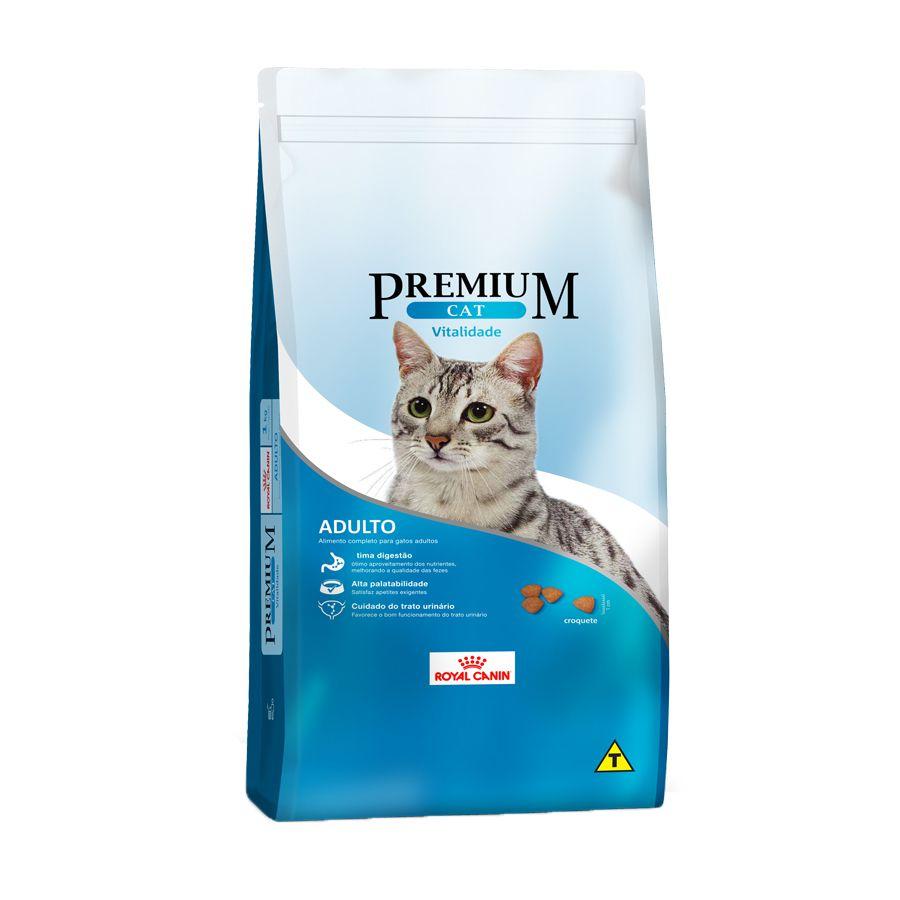 Ração Royal Canin Premium Cat Vitalidade para Gatos Adultos (1Kg)