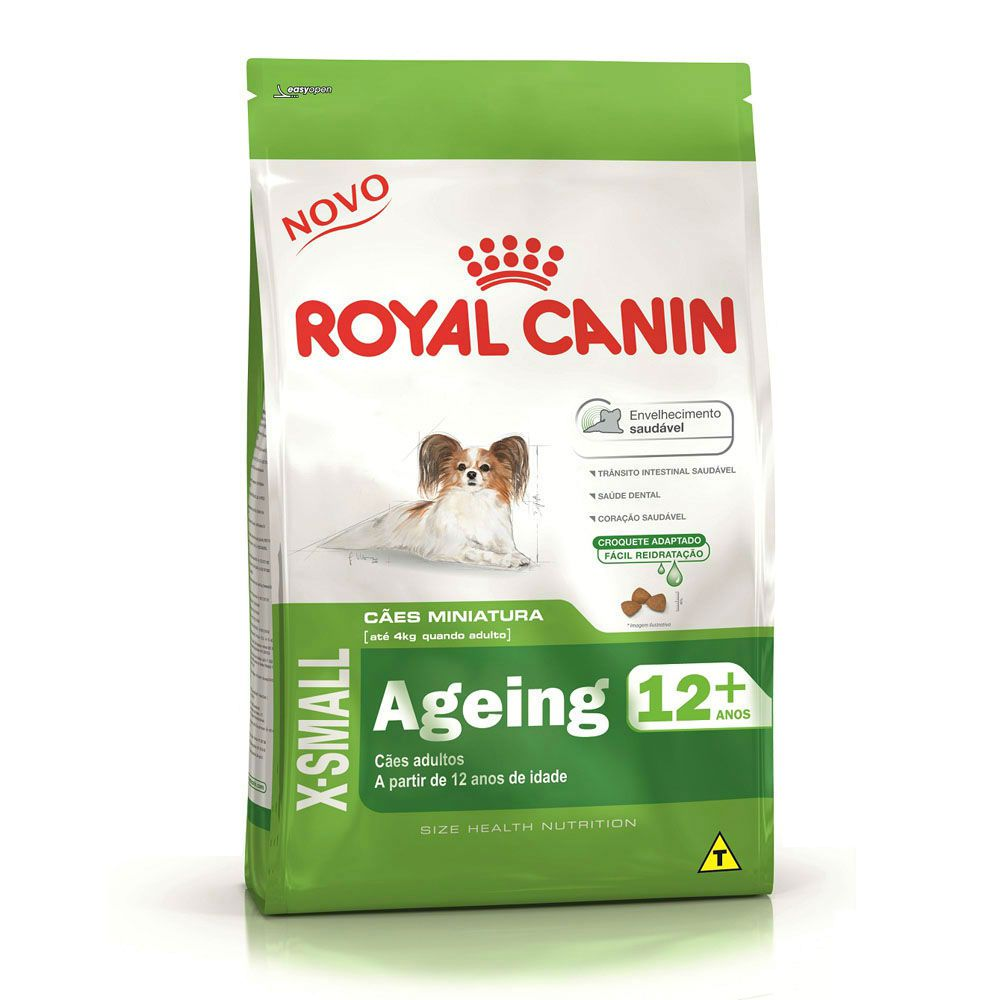 Ração Royal Canin X-small 12+ Cães Adultos (1Kg)