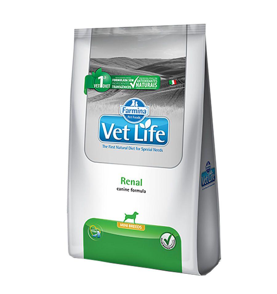Ração Vet Life Renal Mini para Cães Adultos de Pequeno Porte (2Kg)