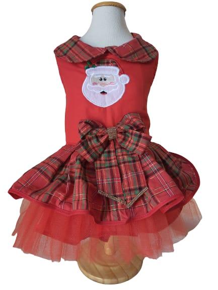 Roupinha para Cachorro - Vestido de Natal