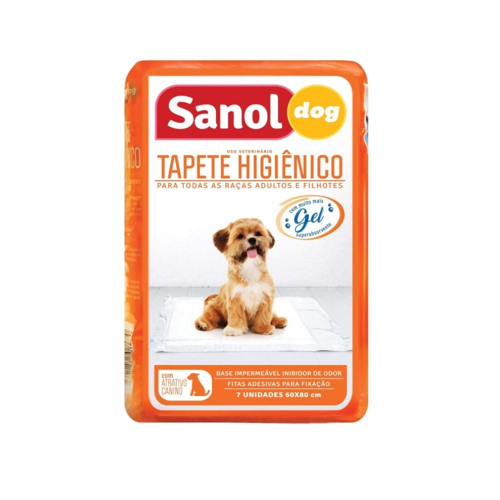 Tapete Higiênico Sanol Dog 60x80cm - 7 Unidades