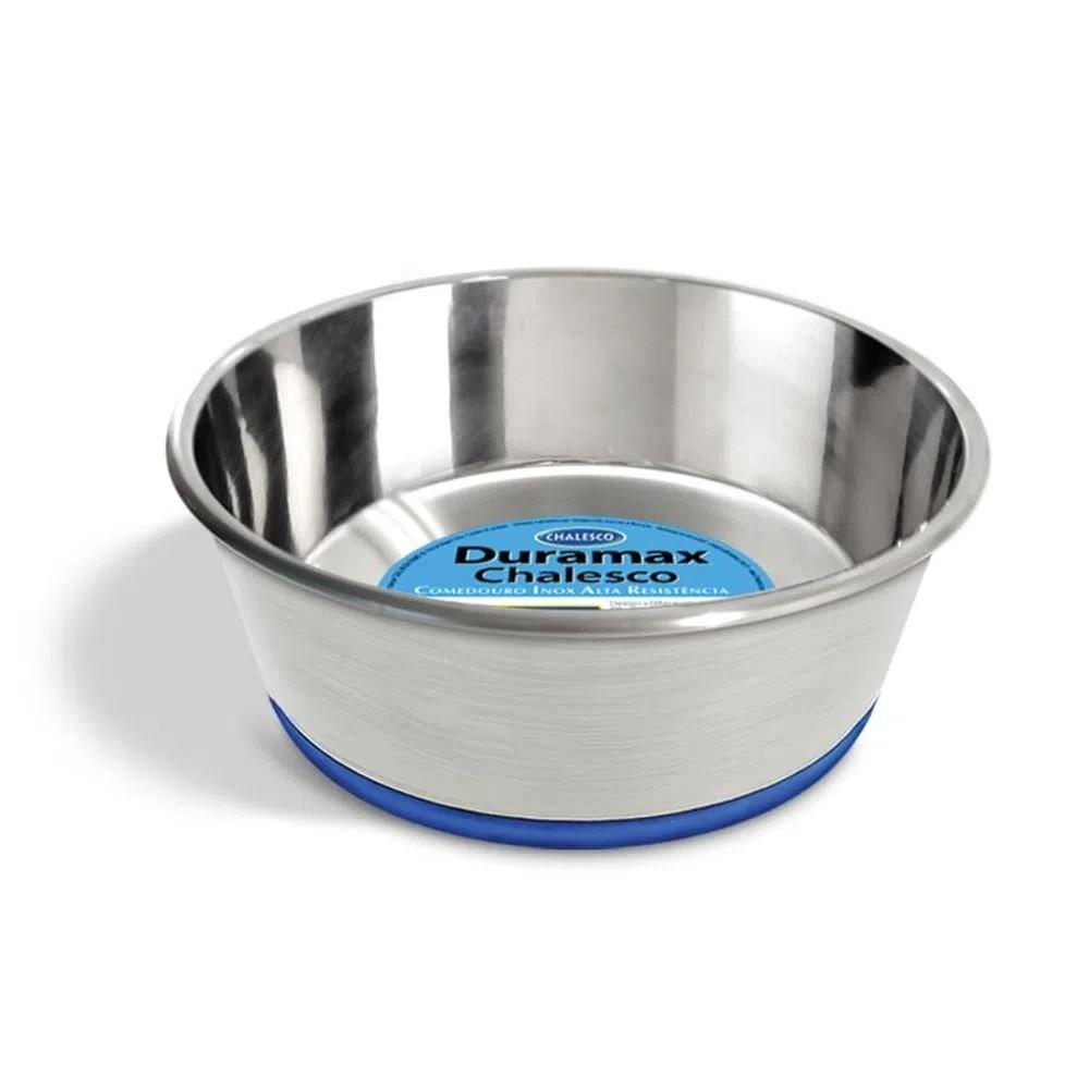 Tigela Comedouro para Cachorro Inox Duramax com Silicone 300ml