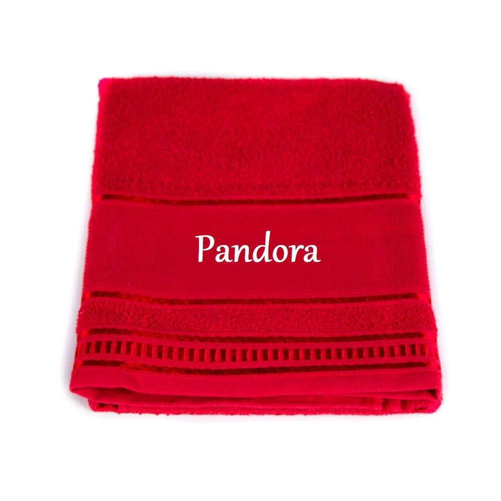Toalha de Banho Para Cachorro e Gato Personalizada - Vermelha