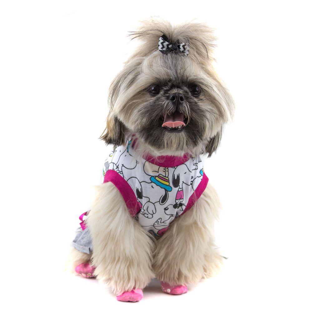 Camiseta Roupinha Pet Vestido Snoopy para Cachorro e Gato