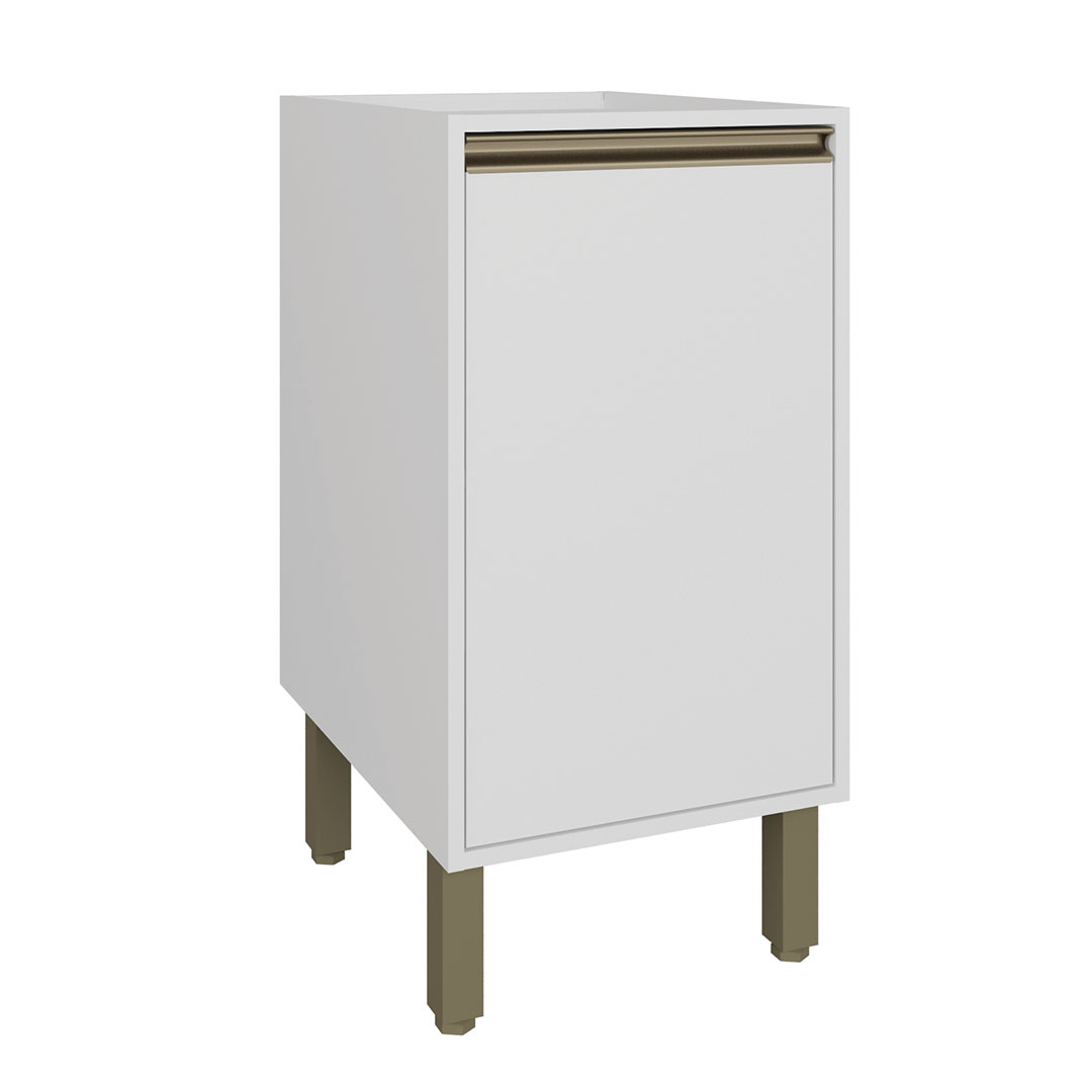 Armário de Cozinha Balcão 41,6 cm 1 Porta Vitória Rimo Branco