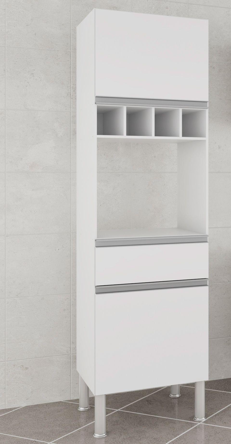 Armário De Cozinha Paneleiro Prisma MGM Móveis Branco