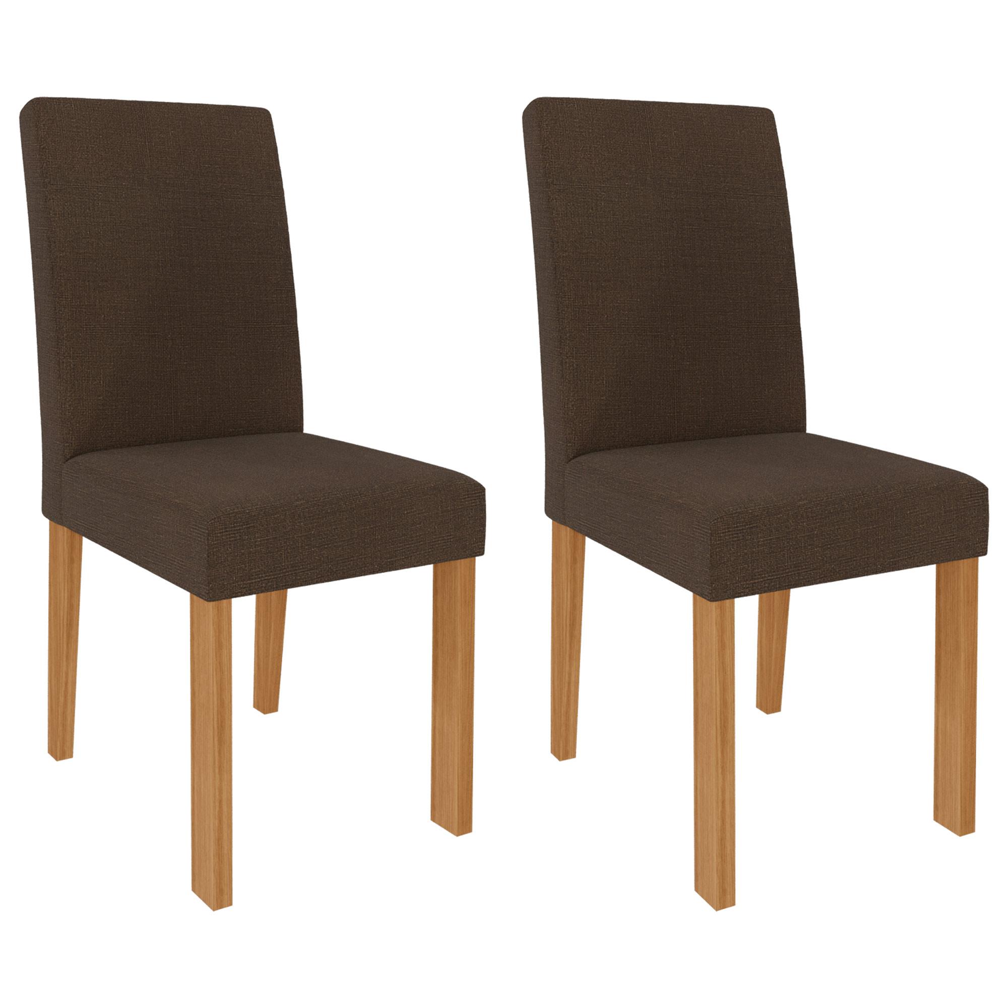 Cadeiras de MDF Para Sala de Jantar 02 Pçs Maia  Cimol Nature/Mascavo
