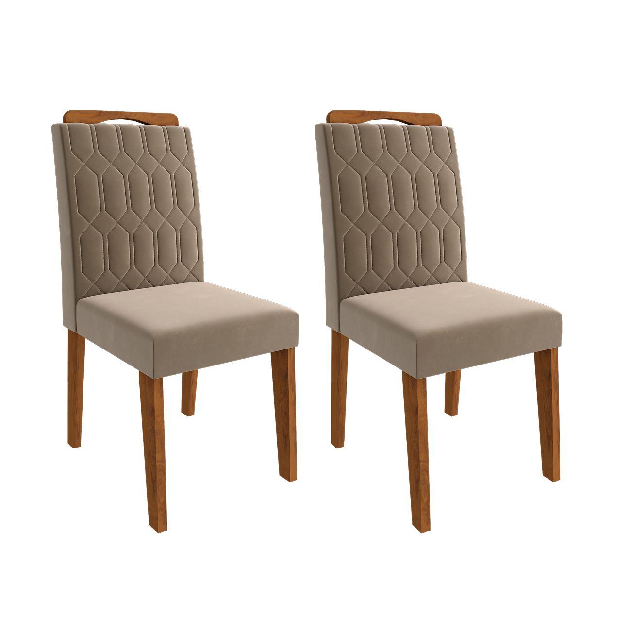 Cadeiras de MDF para Sala de Jantar 02 Pçs Paola Cimol Savana/Joli