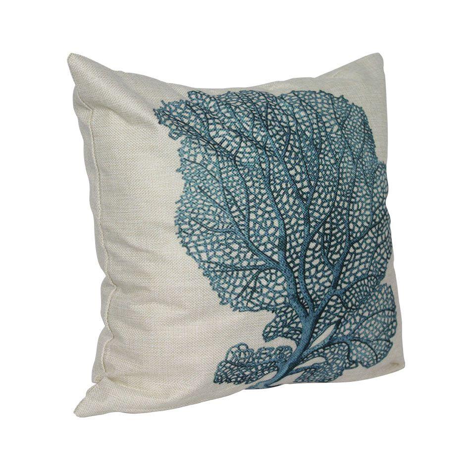 Capa para Almofada Arbusto Azul 45X45  Isa