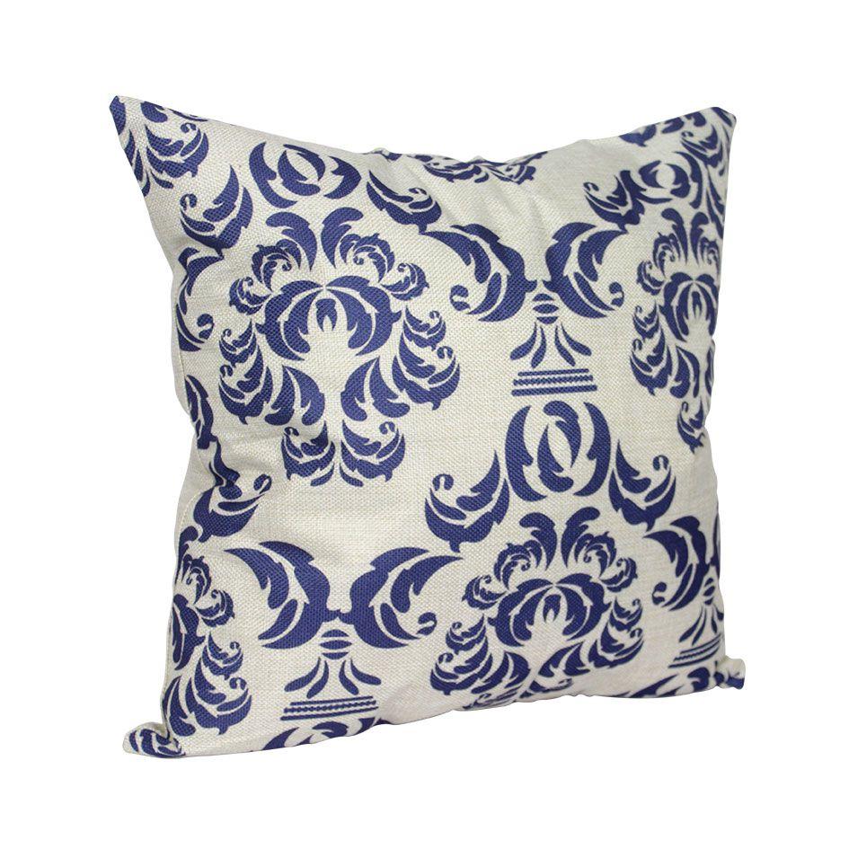 Capa para Almofada Desenho Azul 45X45  Isa