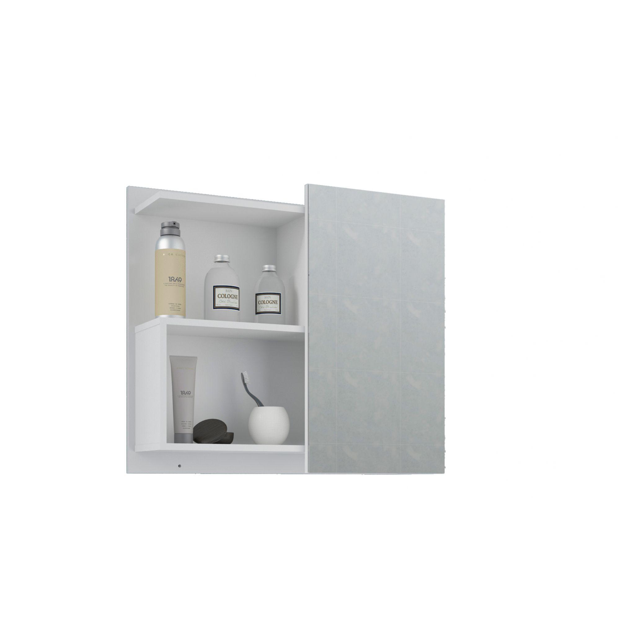 Espelho Para Banheiro Lis 60 Cm MGM Branco