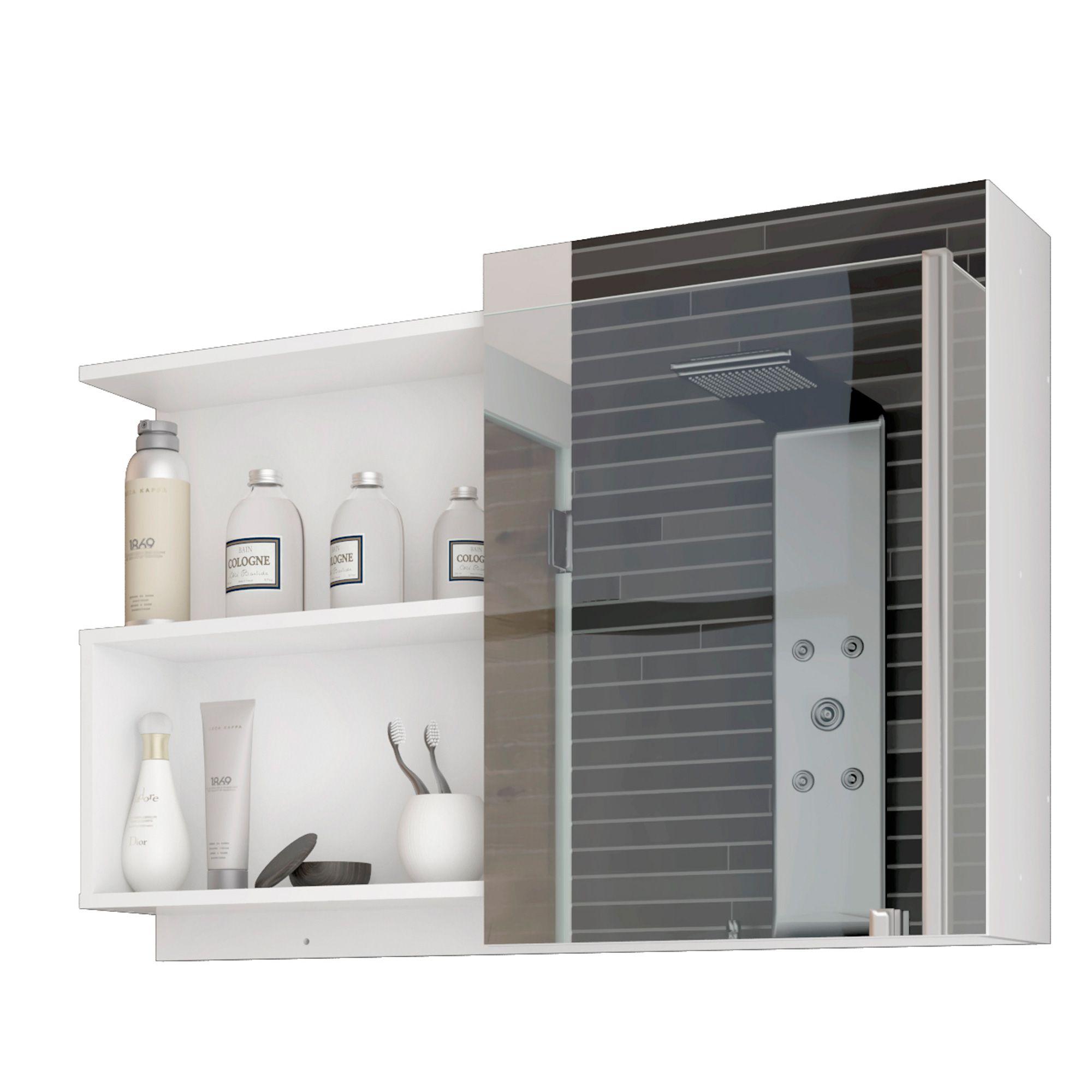 Espelho Para Banheiro Lis 80 Cm MGM Branco