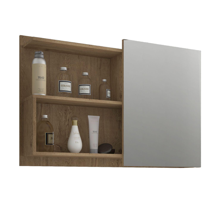 Espelho Para Banheiro Lis 80 Cm MGM Carvalho