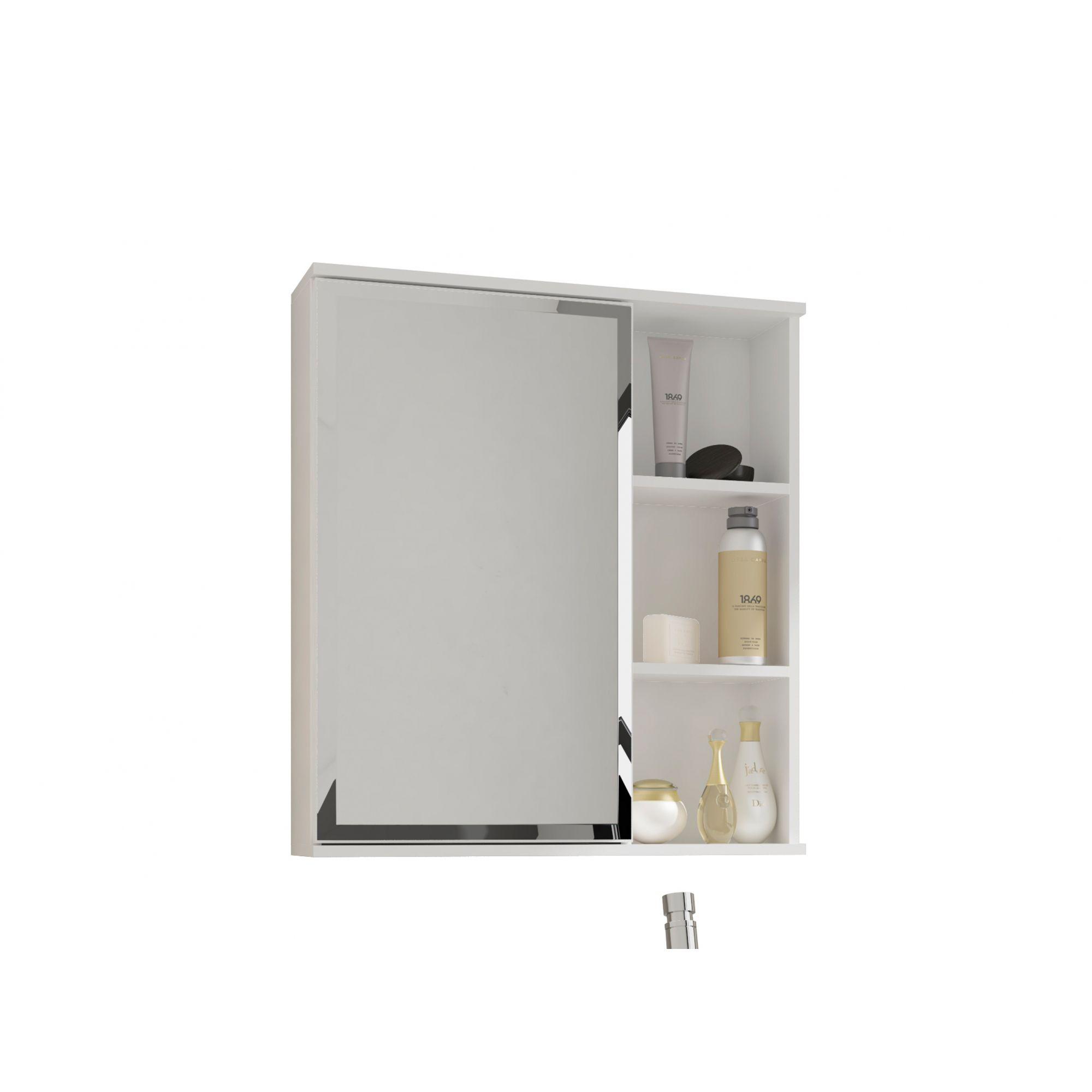Espelho Para Banheiro Treviso 56 Cm MGM Branco