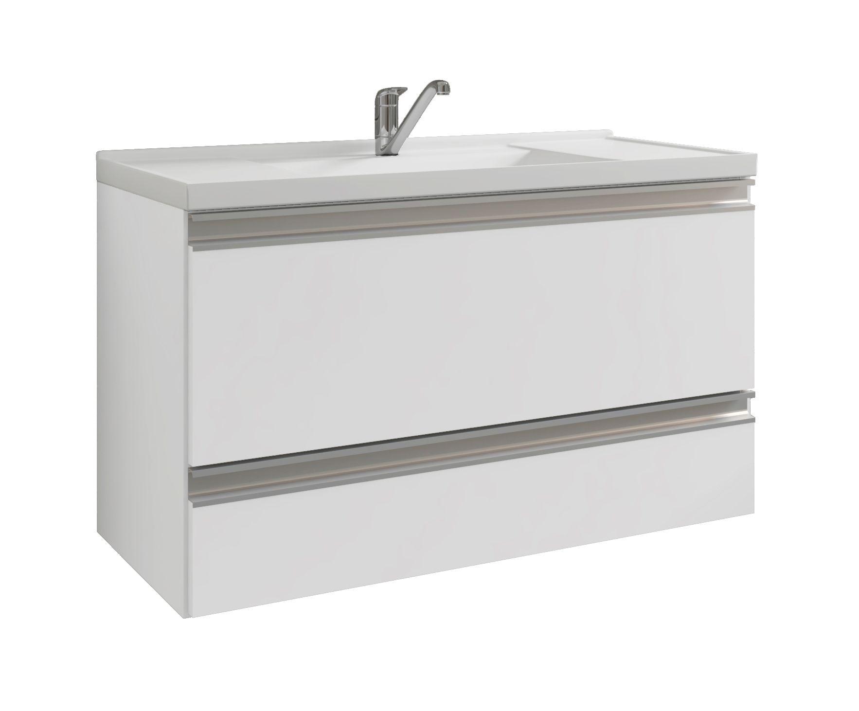 Gabinete Para Banheiro Treviso 79 Cm PX Perfil MGM Móveis Branco