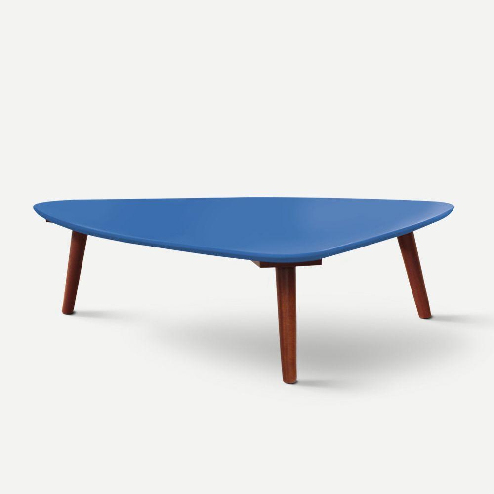 Mesa de Centro Azul Escuro em Laca Modelo Concha Caixotin