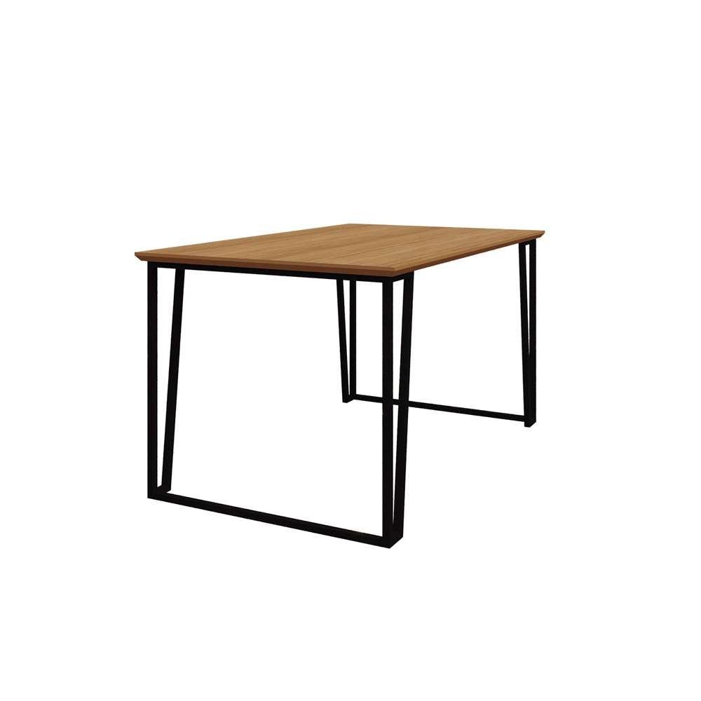 Mesa para Sala de Jantar Lisa 130 x 80 cm Cimol Preto/Nature