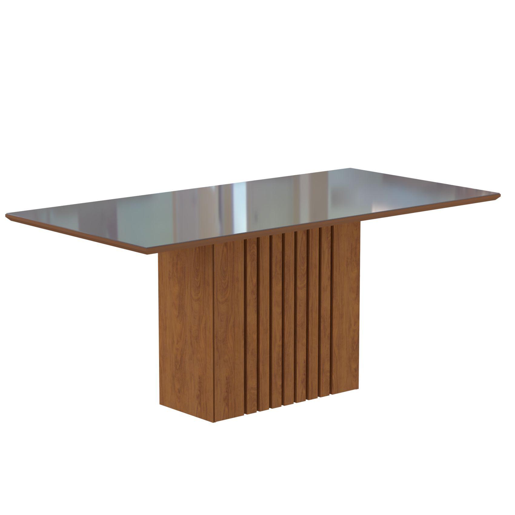 Mesa para Sala de Jantar Ana 180 x 90 cm e 6 Cadeiras Livia Cimol Savana/Off White/Marfim